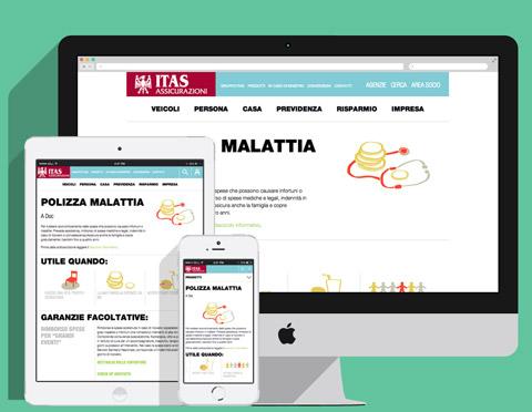 Versicherungswebsite responsives Design
